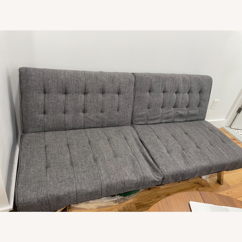Abbyson Clayton Arctic Grey Fabric Sleeper Sofa - image-2