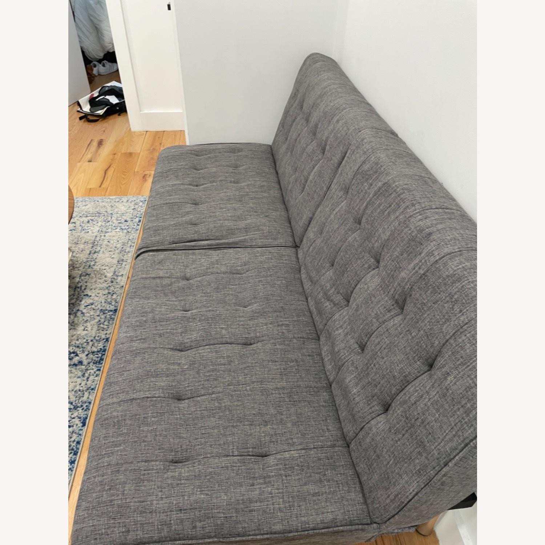 Abbyson Clayton Arctic Grey Fabric Sleeper Sofa - image-3