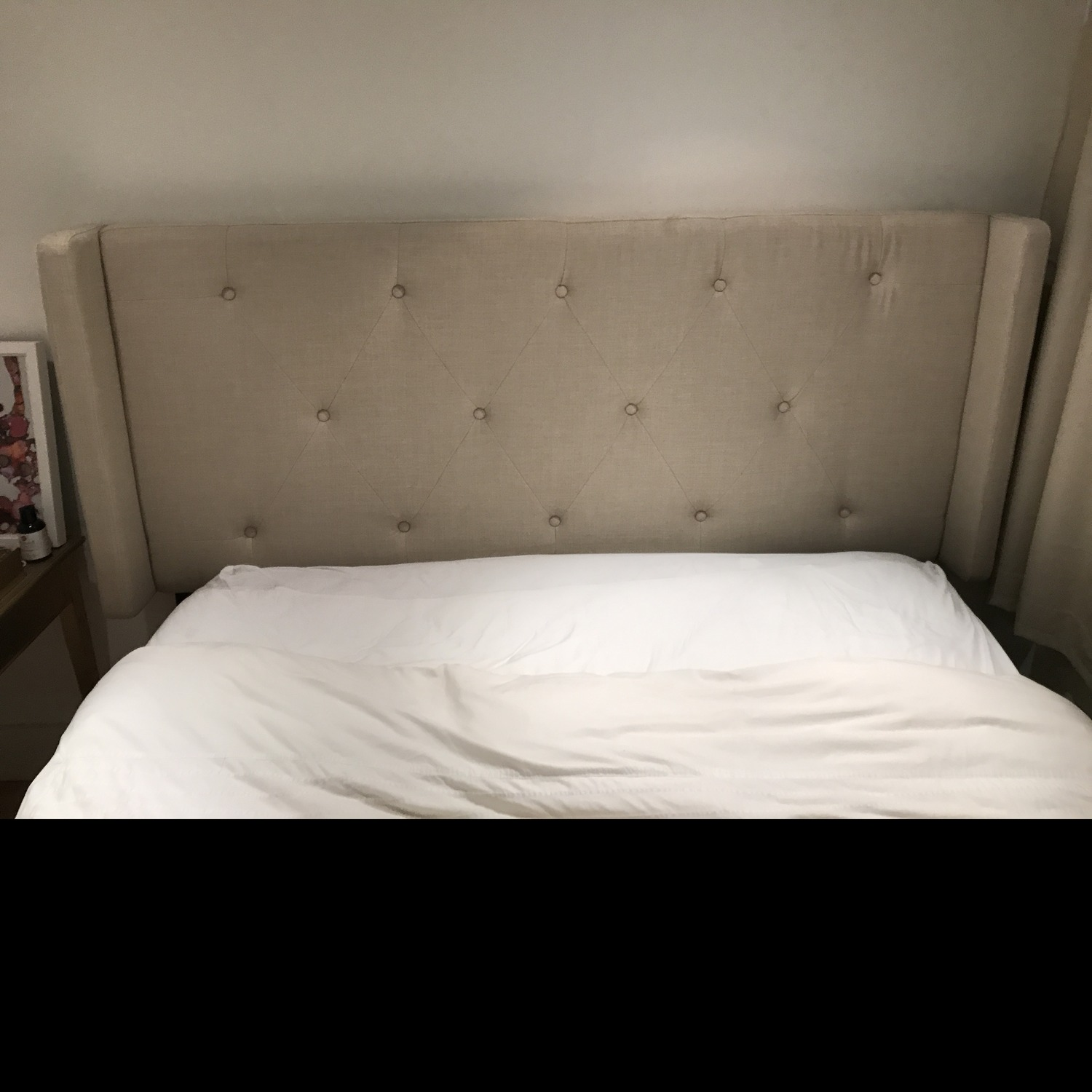 Wayfair Tufted Queen Linen Bed Frame w Attached Headboard - image-5