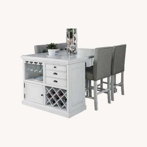 Used Off-White 5-piece Kitchen Island Set for sale on AptDeco