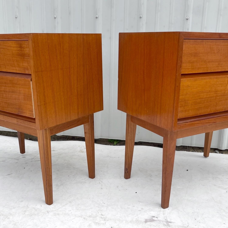 Vintage Teak Nightstands- a Pair - image-4