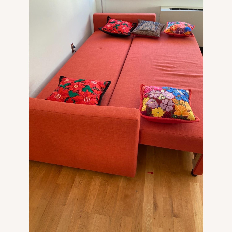 IKEA Red Sleeper Sofa - image-1