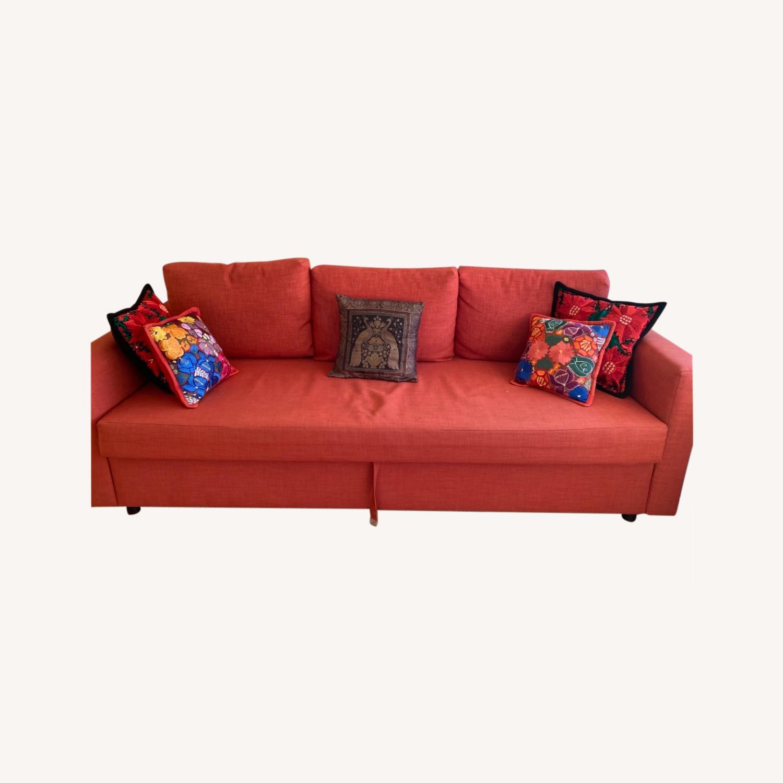 IKEA Red Sleeper Sofa - image-0