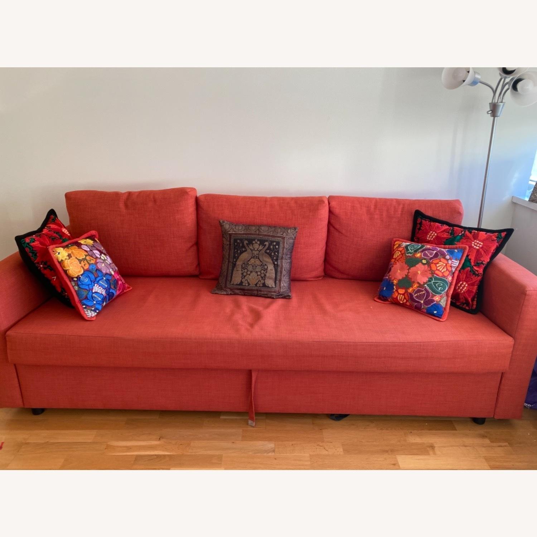 IKEA Red Sleeper Sofa - image-2