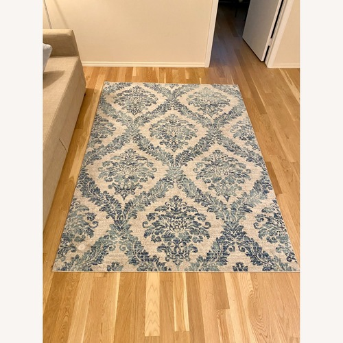 Used Joss & Main Delana Blue Oriental Area Rug for sale on AptDeco