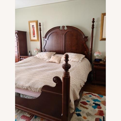 Used Mahagony King Bed for sale on AptDeco