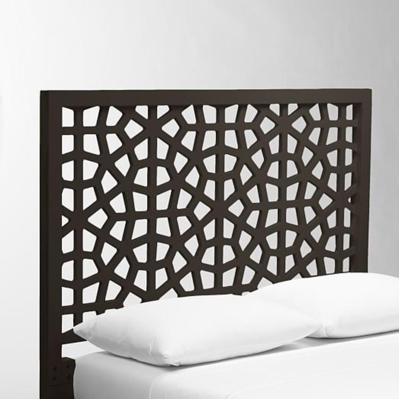 West Elm Morocco Headboard Chocolate Brown - image-1
