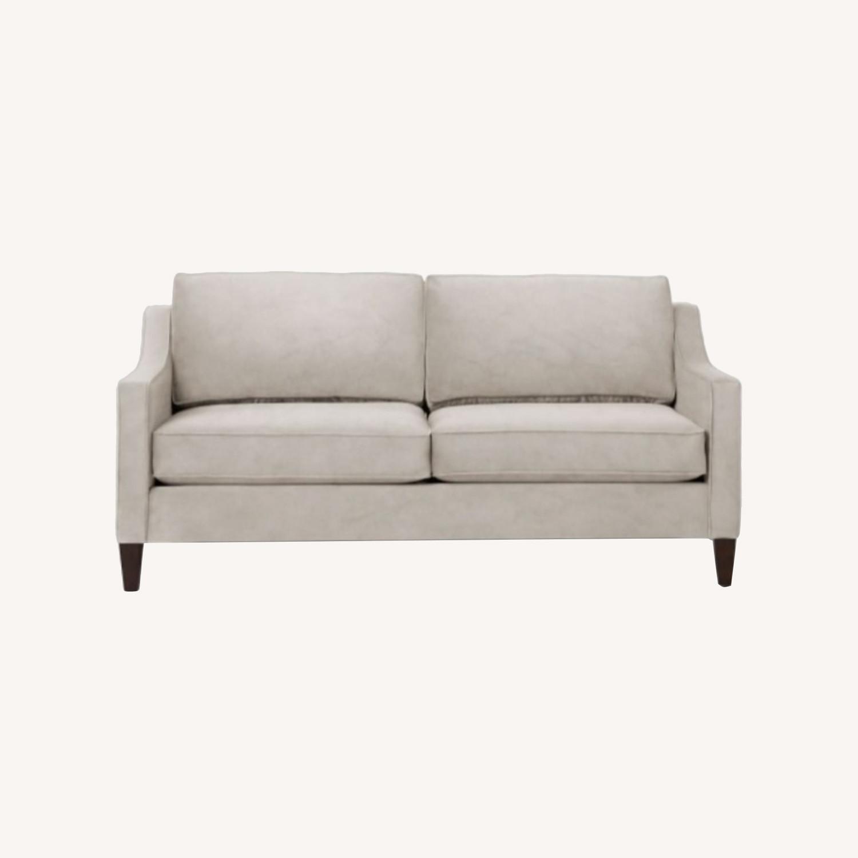 West Elm Gray Velvet Paidge Couch - image-0