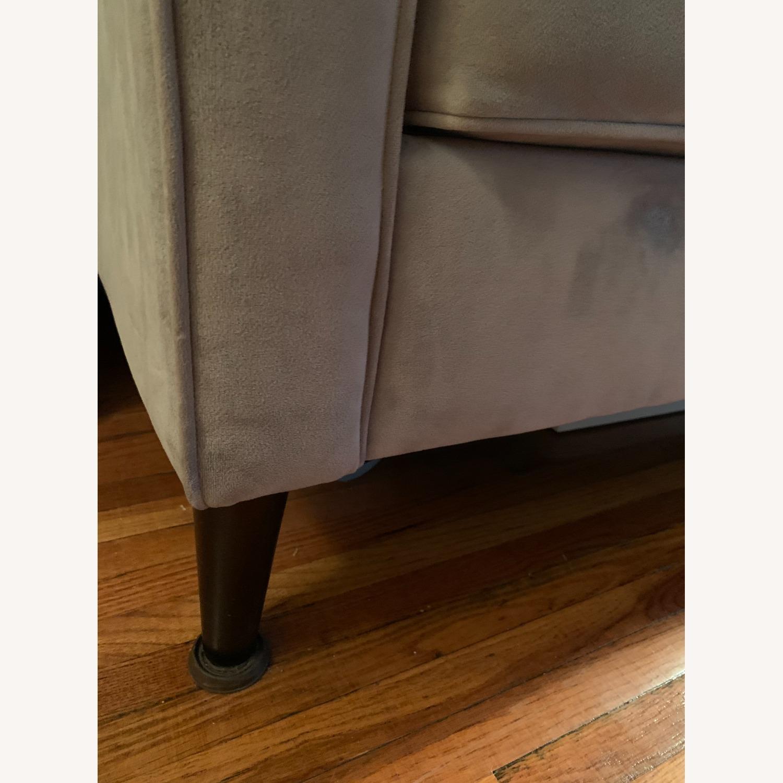 West Elm Gray Velvet Paidge Couch - image-4