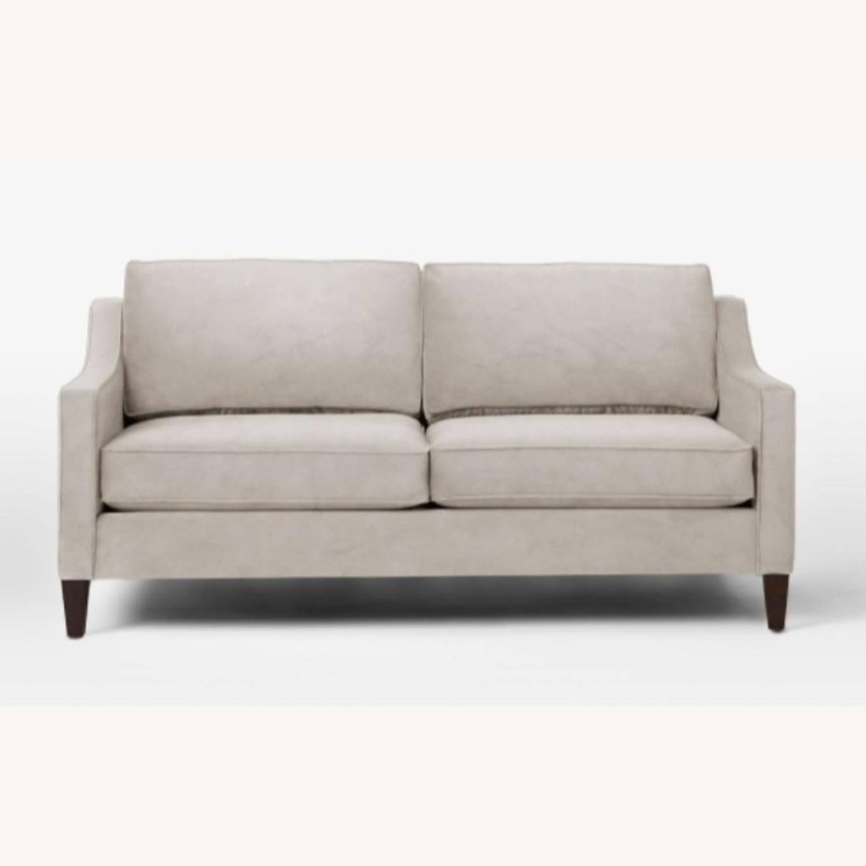 West Elm Gray Velvet Paidge Couch - image-1