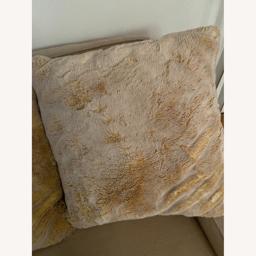 Used Z Gallerie Chinchilla Pillow 24 Inches for sale on AptDeco
