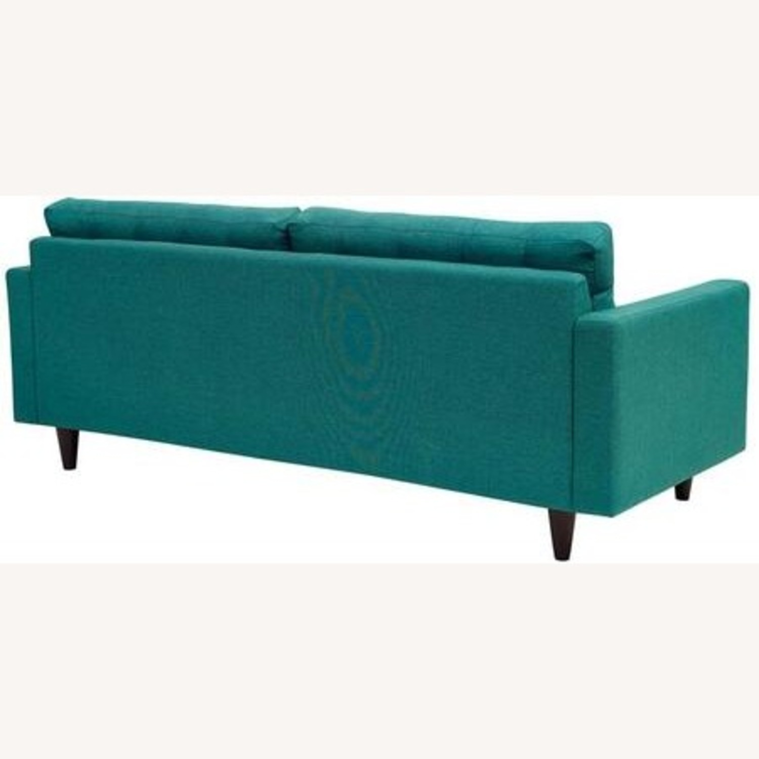 Modern Style Sofa In Teal Fabric W/ Tufted Buttons - image-2