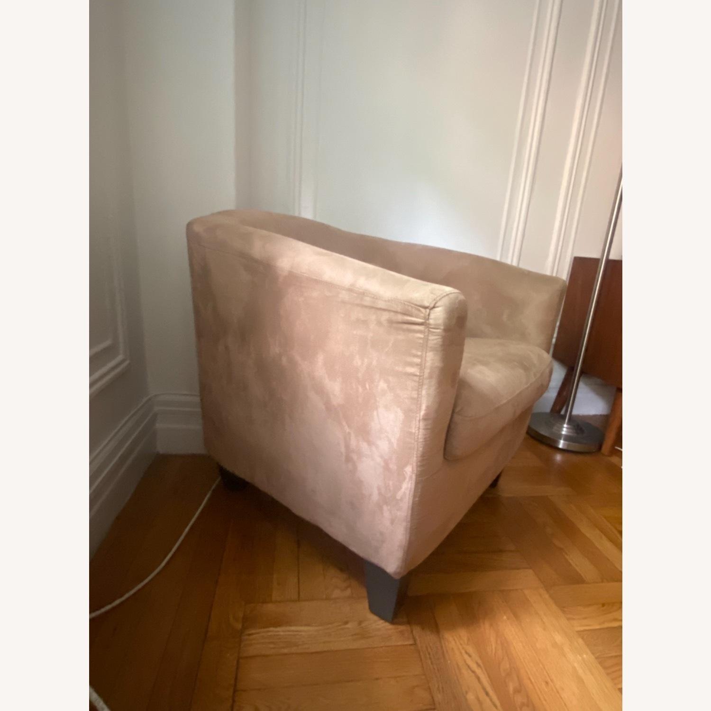 Jennifer Convertibles Tan Barrel Chair - image-3