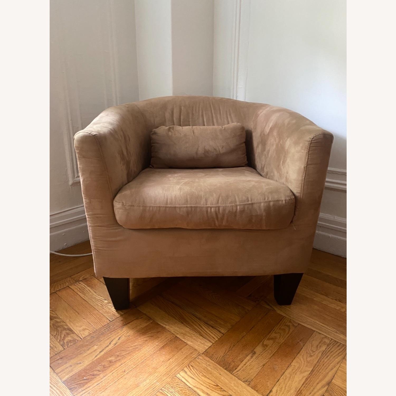 Jennifer Convertibles Tan Barrel Chair - image-2