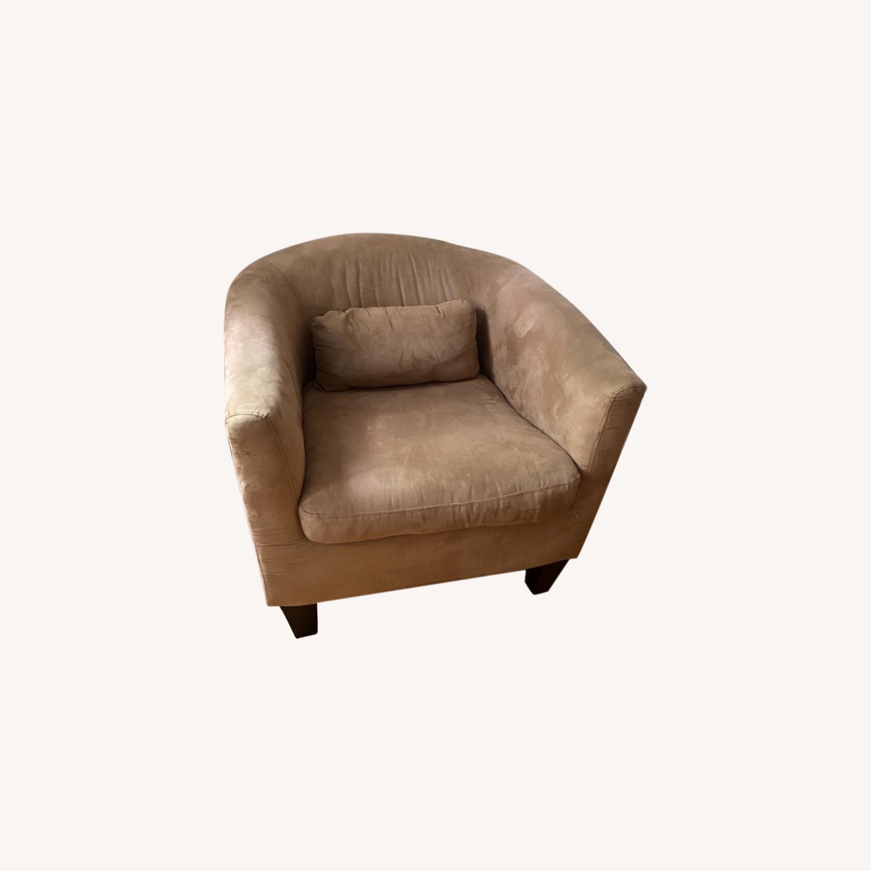 Jennifer Convertibles Tan Barrel Chair - image-0
