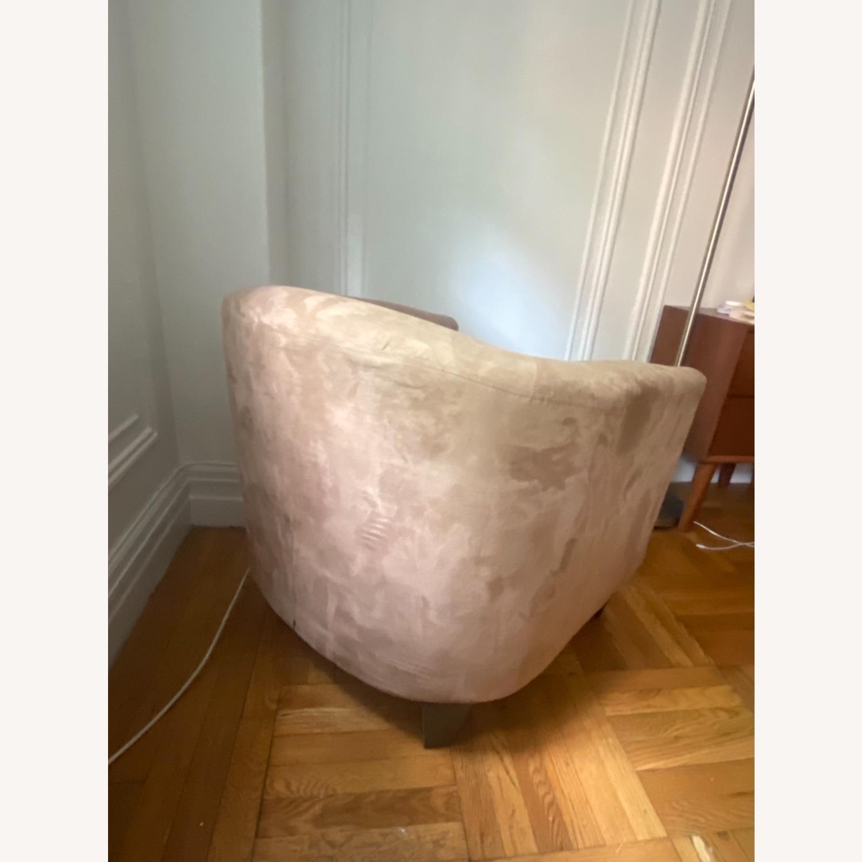 Jennifer Convertibles Tan Barrel Chair - image-4
