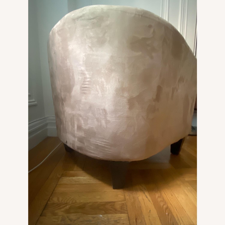 Jennifer Convertibles Tan Barrel Chair - image-6