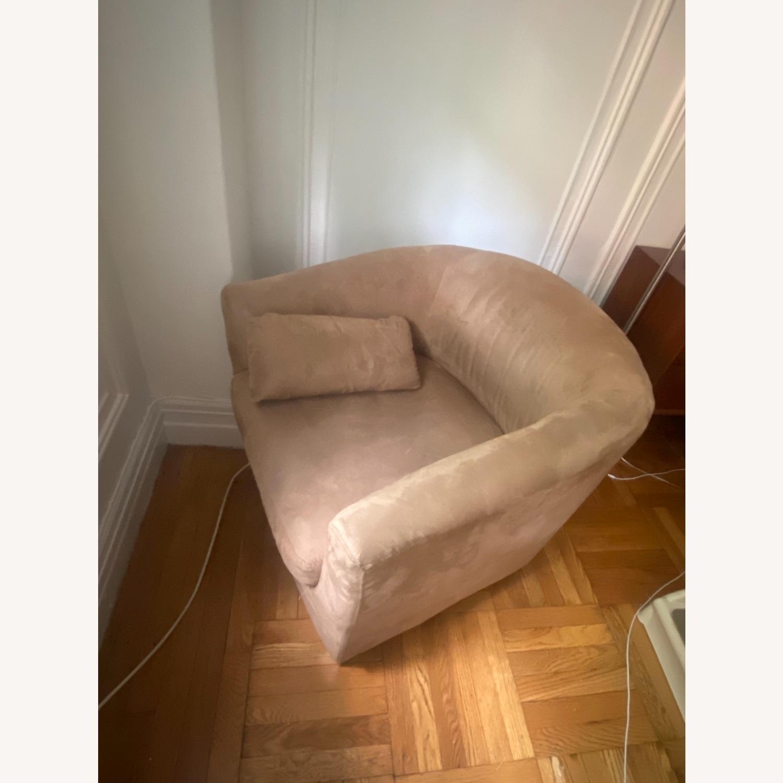 Jennifer Convertibles Tan Barrel Chair - image-8