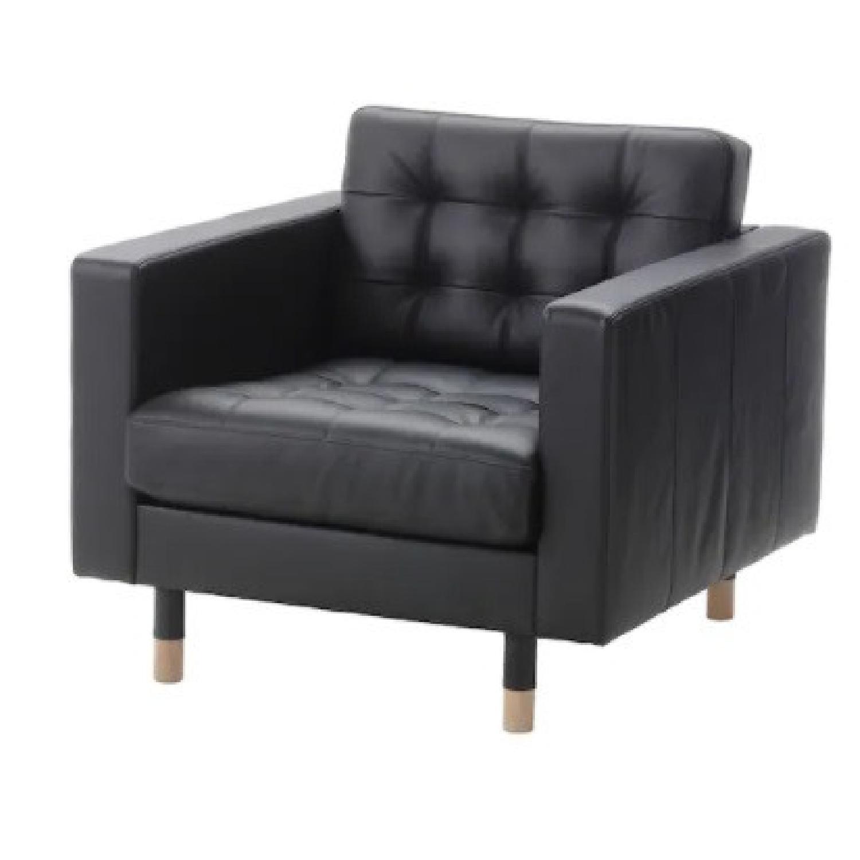 IKEA Morabo Brown Leather Chair - image-6