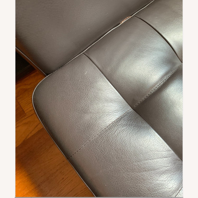 IKEA Morabo Brown Leather Chair - image-5