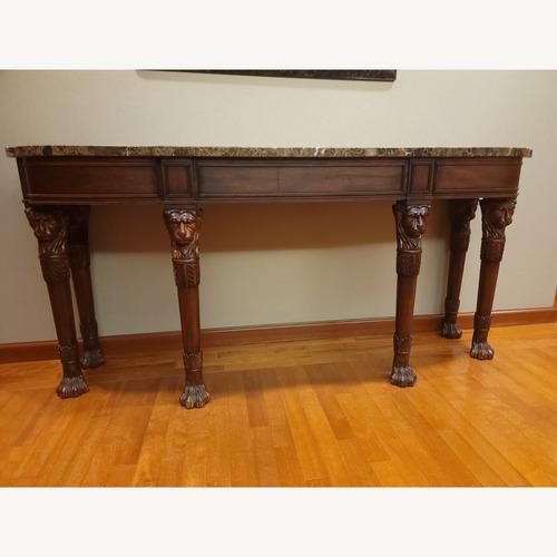 Used Henkel-Harris Mahogany & Marble Console Table for sale on AptDeco