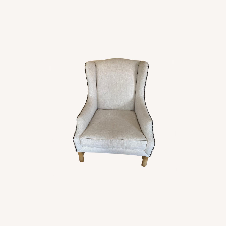 Restoration Hardware 17th Century Wingback Chair - image-5