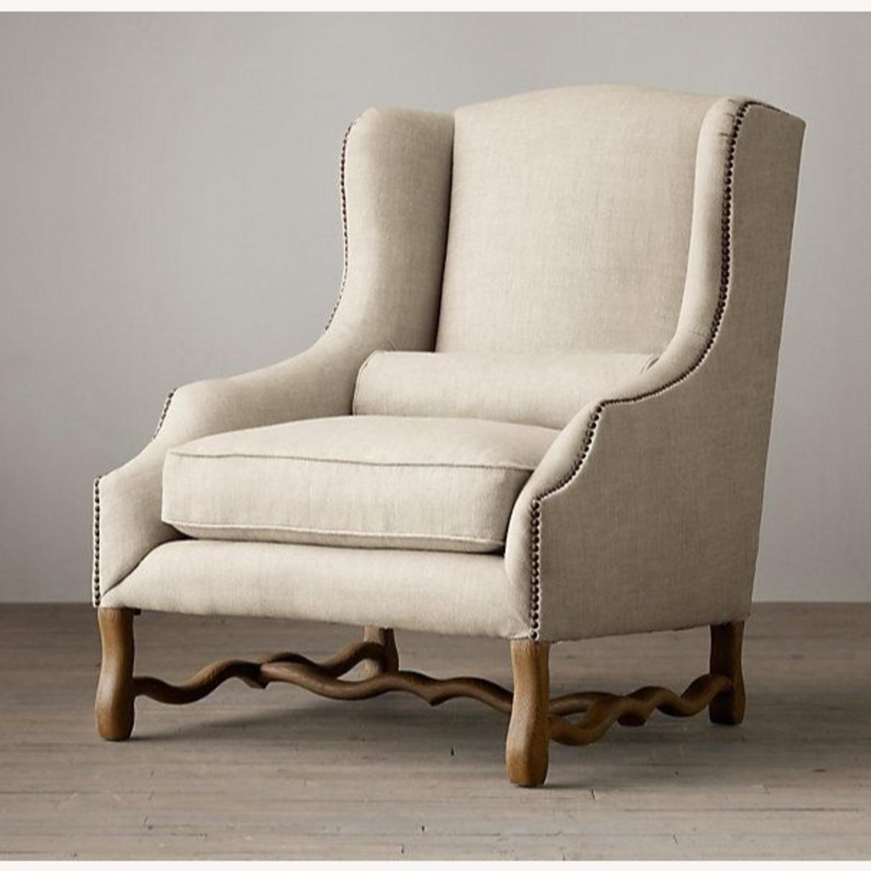 Restoration Hardware 17th Century Wingback Chair - image-0