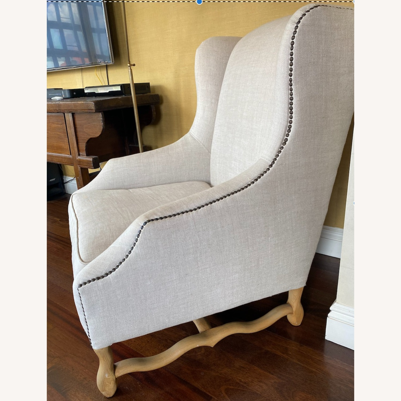 Restoration Hardware 17th Century Wingback Chair - image-1