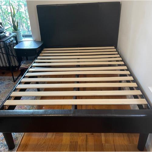 Used Zinus Gerard Upholstered Platform Bed Frame for sale on AptDeco