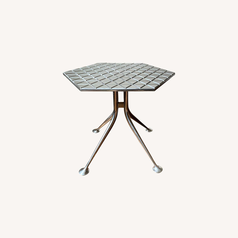 "Alexander Girard Modern ""Hexagonal"" Side Table - image-0"
