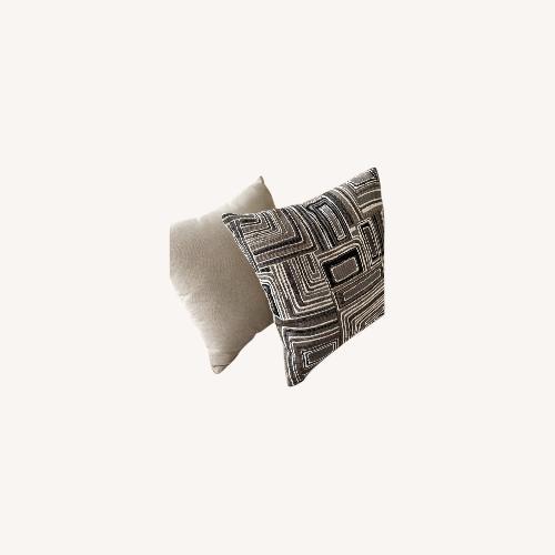 Used Bob's Discount Furniture Tan Throw Pillows for sale on AptDeco