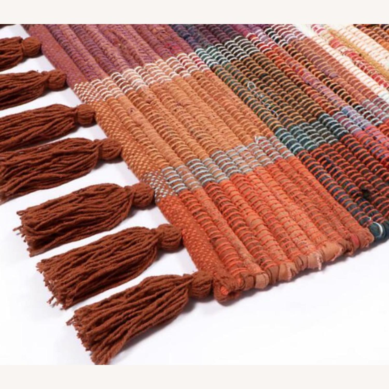 Vintage Plaid Rust Boho Rug - image-2