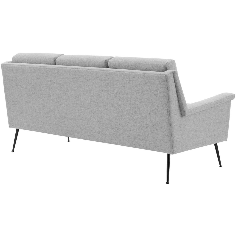 Sofa In Light Gray Fabric W/ Black Metal Legs - image-2