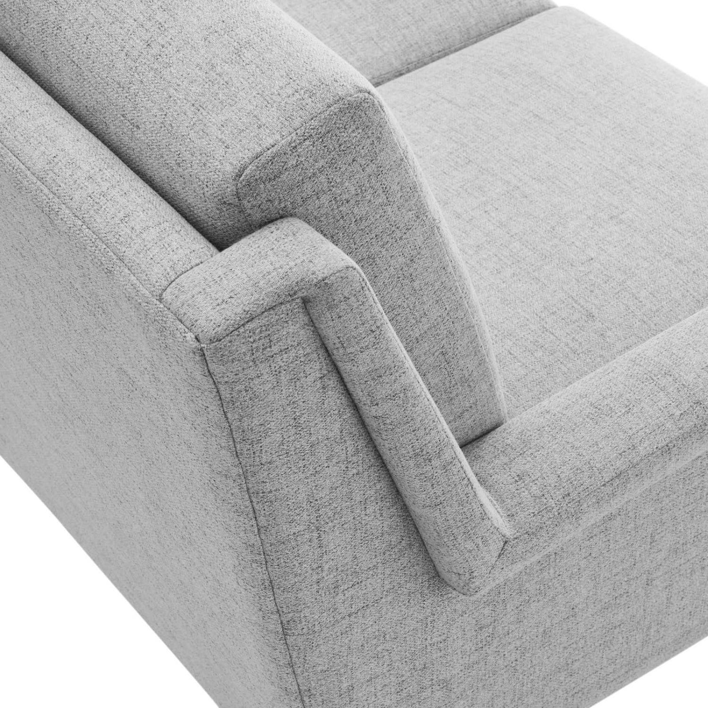 Sofa In Light Gray Fabric W/ Black Metal Legs - image-4