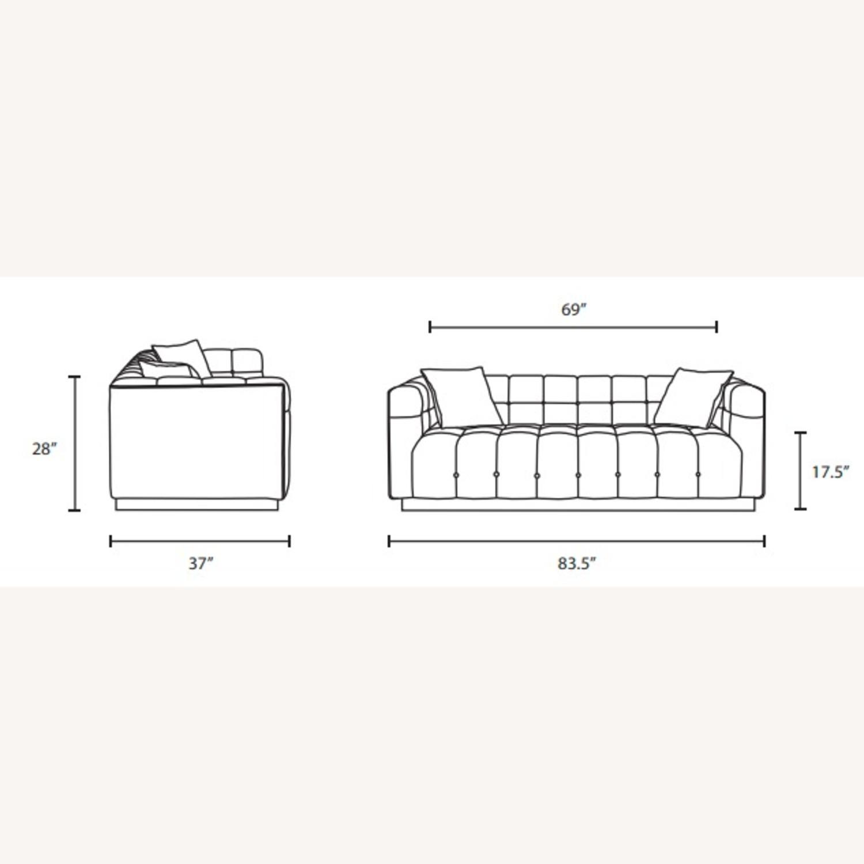 Sofa In Navy Velvet W/ Biscuit Tufting Details - image-6