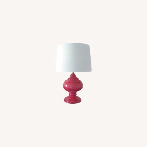 Used Neiman Marcus Lacquer/Linen Shade Lamps for sale on AptDeco