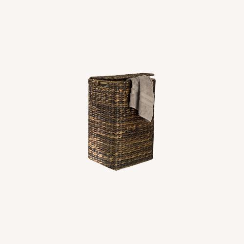 Used Pottery Barn Havana Handcrafted Square Hamper for sale on AptDeco