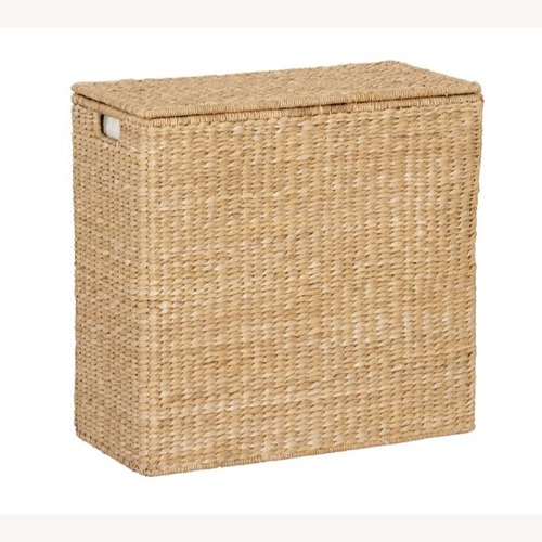 Used Pottery Barn Savannah Seagrass Handcrafted Hamper  for sale on AptDeco