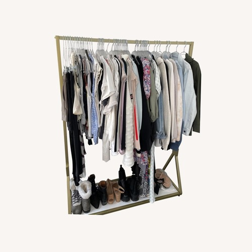 Used Target Gold Clothing Rack for sale on AptDeco