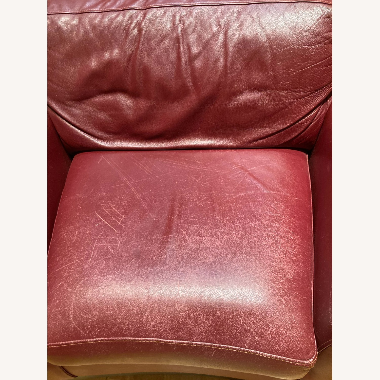 Burgundy Genuine Leather Chair - image-2