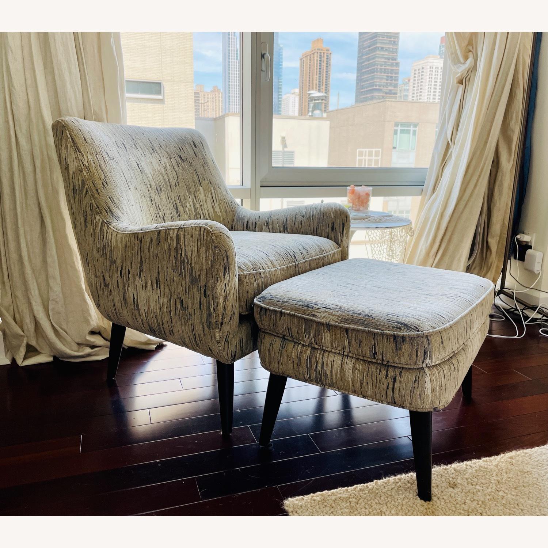 Room & Board Quinn Chair & Ottoman in Della Ivory - image-2