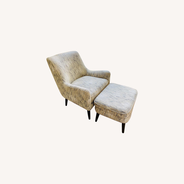 Room & Board Quinn Chair & Ottoman in Della Ivory - image-0