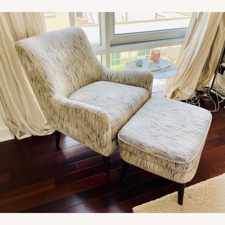 Room & Board Quinn Chair & Ottoman in Della Ivory - image-1