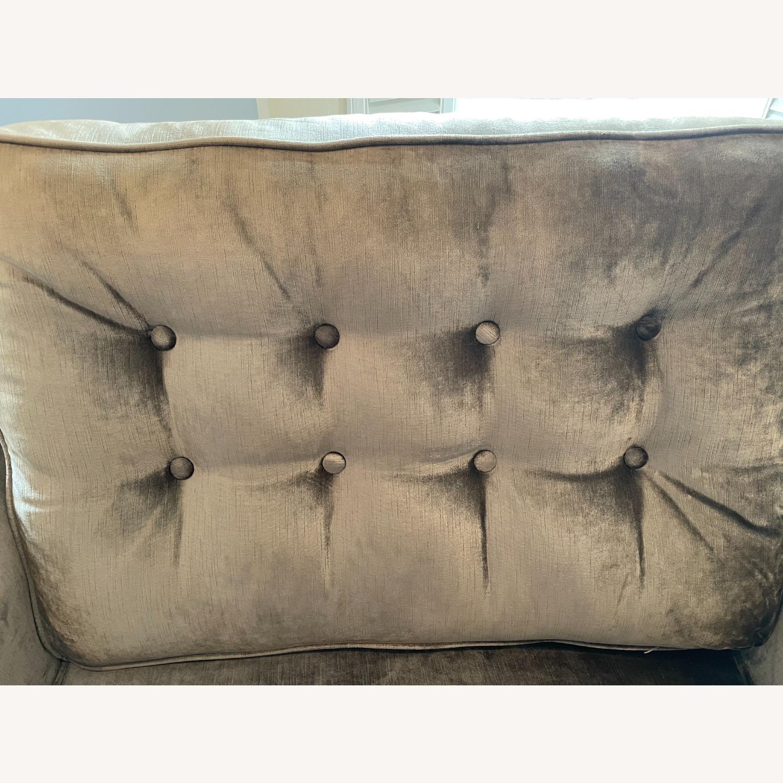 Golden Custom Velvet Arm Chair - image-2