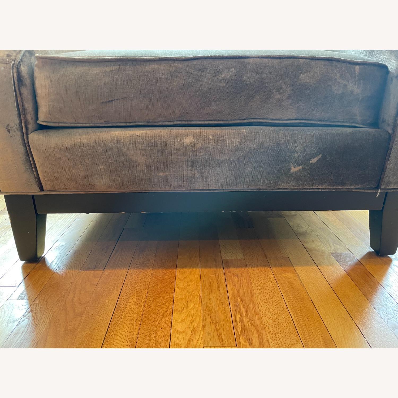 Golden Custom Velvet Arm Chair - image-3