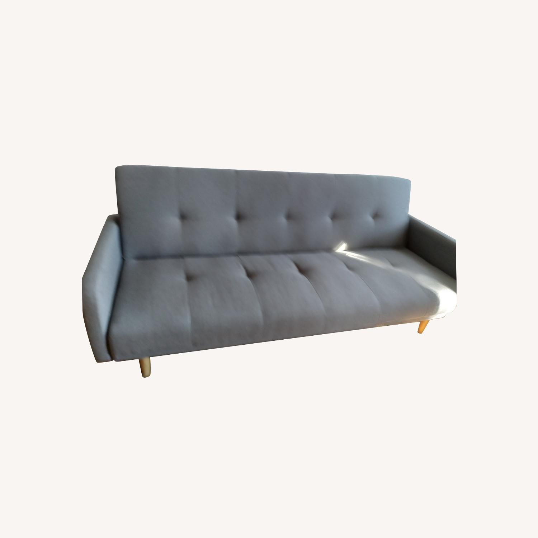 Target Dark Grey Fabric Folding Sofa - image-0