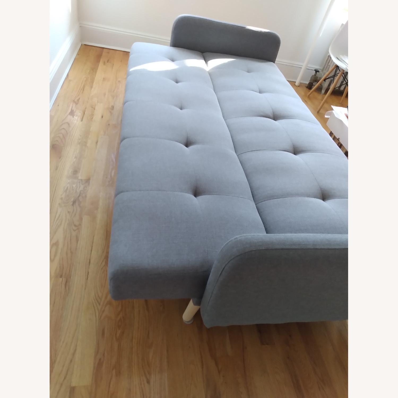 Target Dark Grey Fabric Folding Sofa - image-5