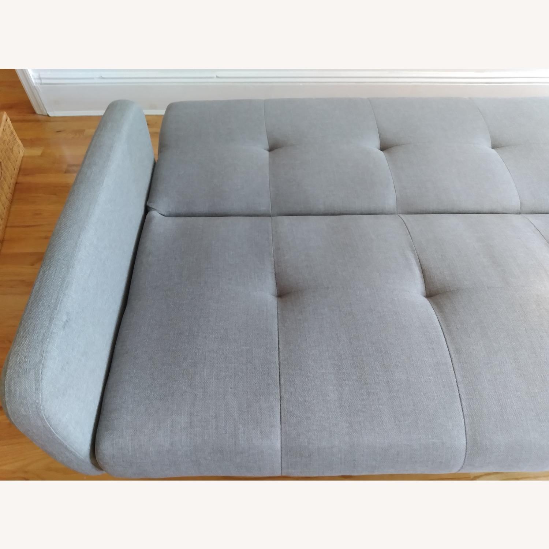Target Dark Grey Fabric Folding Sofa - image-4