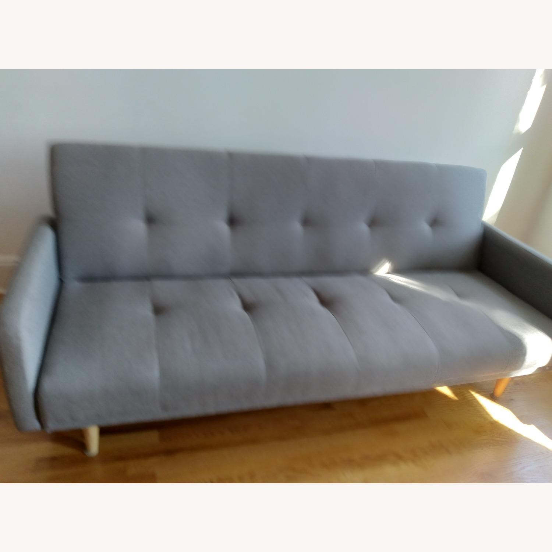 Target Dark Grey Fabric Folding Sofa - image-1