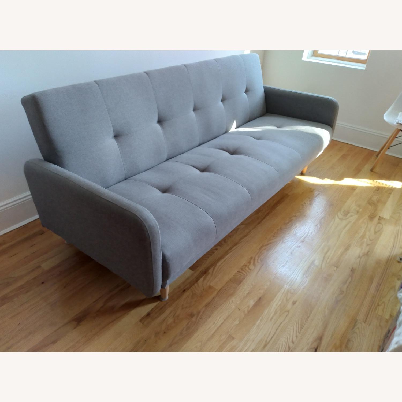 Target Dark Grey Fabric Folding Sofa - image-2